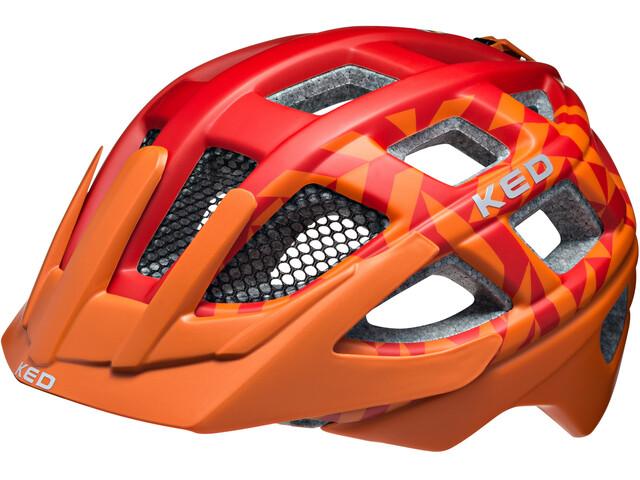 KED Kailu Helmet Kids Red Orange Matt